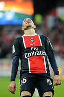FOOTBALL - FRENCH CHAMPIONSHIP 2011/2012 - L1 - PARIS SAINT GERMAIN v DIJON FCO  - 23/10/2011 - PHOTO JEAN MARIE HERVIO / DPPI - CHRISTOPHE JALLET (PSG)