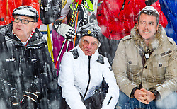 21.01.2012, Hahnenkamm, Kitzbuehel, AUT, FIS Weltcup Ski Alpin, 72. Hahnenkammrennen, Charity race, im Bild v.l.:  WWP vorsitzender Burghard Hummel (AUT) Formel 1-Zampano Bernie Ecclestone (GBR) und Immobilien-Tycoon René Benco (AUT) // during Charity race of 72th Hahnenkammrace of FIS Ski Alpine World Cup at 'Charity' course in Kitzbuhel, Austria on 2012/01/21. EXPA Pictures © 2012, PhotoCredit: EXPA/ Markus Casna