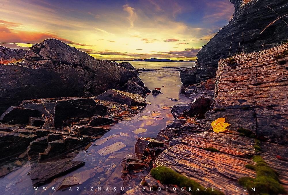 A sunset in TRondheim ladestein, Norway