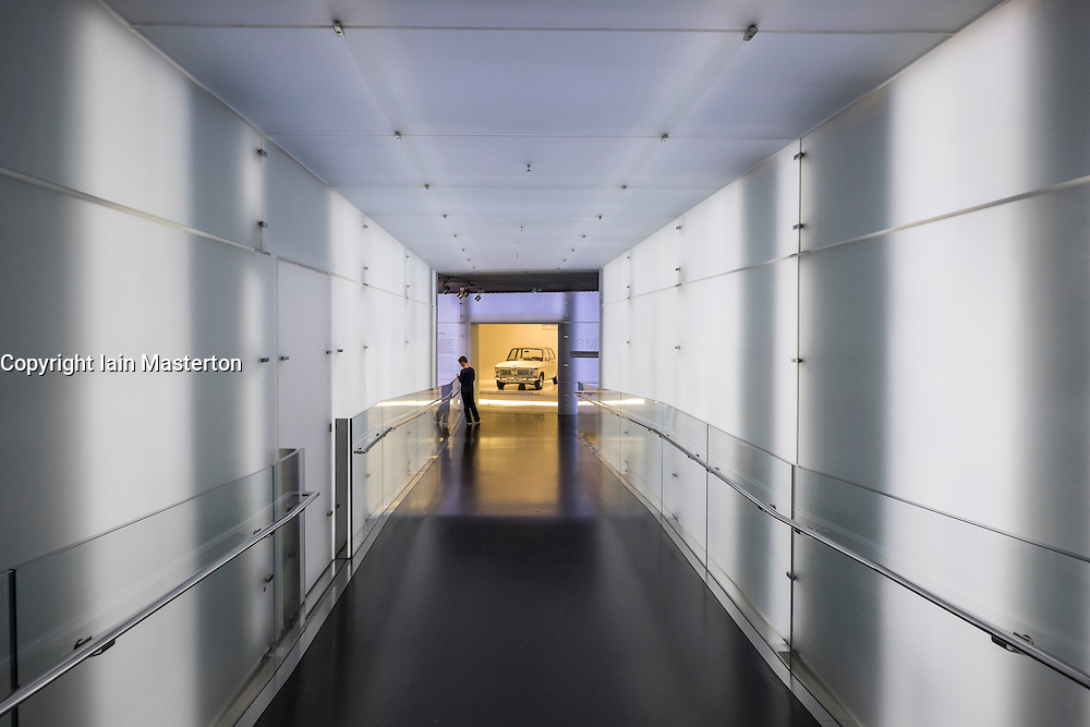 Interior of BMW Museum in Munich Germany
