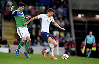 Fotball , 26. mars 2017 ,  VM-kvalifisering<br /> Nord-Irland - Norge <br /> Gustav Valsvik , Norge<br /> Kyle Lafferty  , Nord irland<br /> World qual.<br /> Northern Ireland - Norway