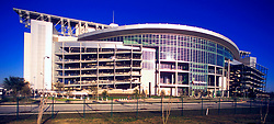 Stock photo of the exterior curvature of Reliant Stadium