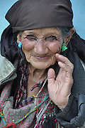 Mature Indian woman. Photographed at khirganga hot springs, Parvati valley, India, Himachal Pradesh