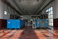 Nosedo, Milano : Impianto di depurazione delle acque reflue. Nosedo Waste Water Treatment plant.Nella foto gli scarti della grigliatura.