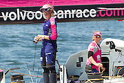 Team SCA finish 6th after the first leg of the 2014-2015 Volvo Ocean Race, arriving in Cape Town. Image by Greg Beadle (Beadle/Lexar)