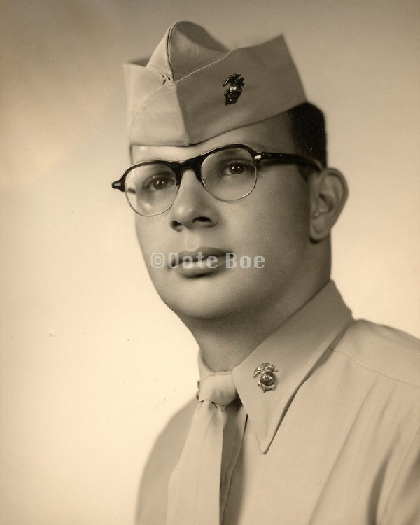 young man?s portrait while in uniform.