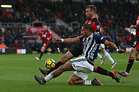 Football - 2017 / 2018 Premier League - AFC Bournemouth vs. West Bromwich Albion<br /> <br /> Bournemouth's Steve Cook gets a block on Salomon Rondon of West Bromwich Albion at Dean Court (Vitality Stadium) Bournemouth <br /> <br /> COLORSPORT/SHAUN BOGGUST