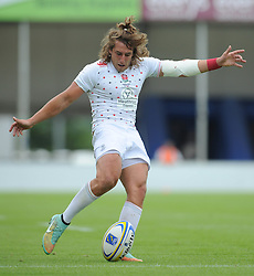 Daniel Bibby of England - Photo mandatory by-line: Dougie Allward/JMP - Mobile: 07966 386802 - 11/07/2015 - SPORT - Rugby - Exeter - Sandy Park - European Grand Prix 7s
