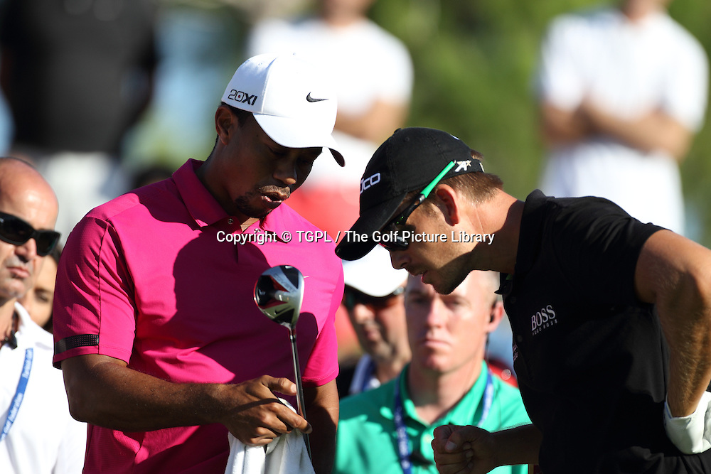 Tiger WOODS (USA) and Henrik STENSON (SWE) during third round Turkish Airlines Open by Ministry of Culture and Tourism 2013,Montgomerie Course at Maxx Royal,Belek,Antalya,Turkey.