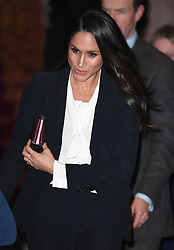 Prince Harry and Meghan Markle attend the annual Endeavour Fund Awards at Goldsmiths Hall, London, UK, on the 1st February 2018. 02 Feb 2018 Pictured: Meghan Markle. Photo credit: James Whatling / MEGA TheMegaAgency.com +1 888 505 6342