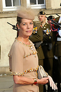 Religious wedding of Grand Duke Guillaume and Princess Stephanie at the Cathedral Notre-Dame in Luxembourg <br /> <br /> On the photo:  Princess Caroline of Monaco