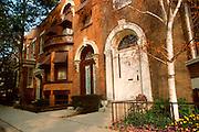 CHICAGO, HISTORIC ARCH. Alta Vista Terrace, landmark row houses in a Northside neighborhood