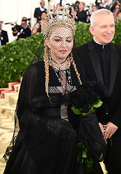 Madonna attending the Metropolitan Museum of Art Costume Institute Benefit Gala 2018 in New York, USA. PRESS ASSOCIATION Photo. Picture date: Picture date: Monday May 7, 2018. See PA story SHOWBIZ MET Gala. Photo credit should read: Ian West/PA Wire