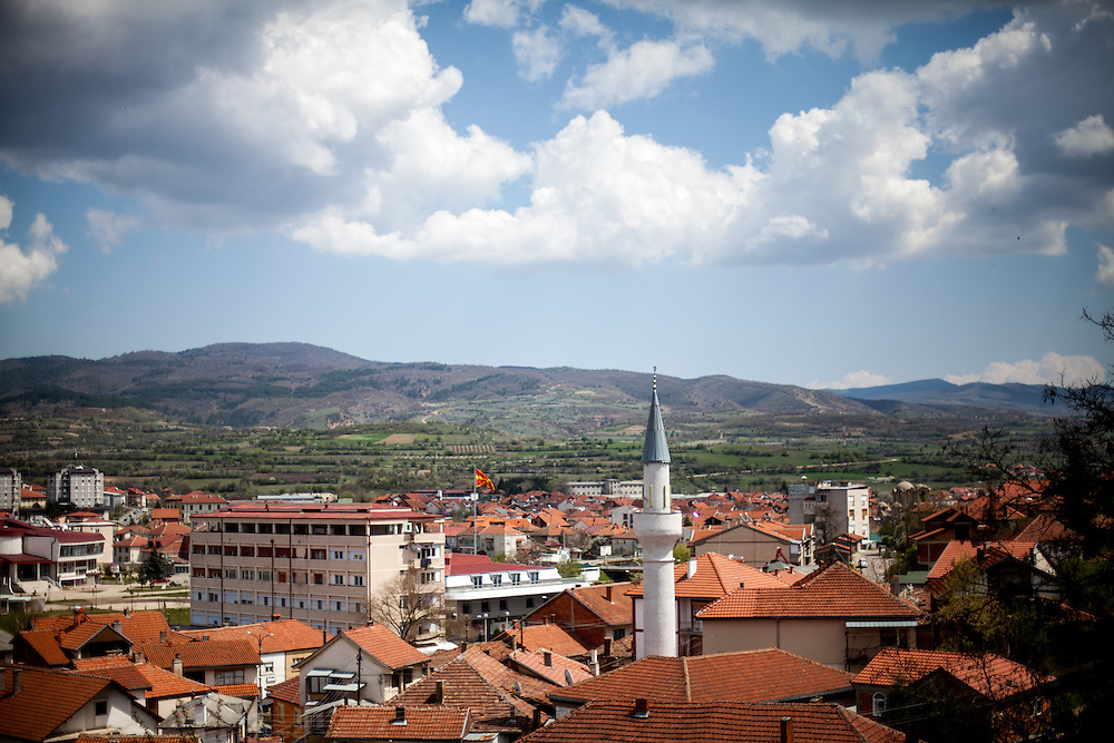 The city of Delcevo seen from a little hill. NGO Kham has its office in the city of Delcevo. Delcevo is a small town in the eastern mountainous part of the Republic of Macedonia.