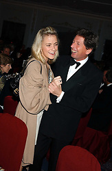 MISS SAMANTHA MAGNIER and JOHN WARREN at the Cartier Racing Awards held at the Four Seasons Hotel, Hamilton Place, London W1 on 16th November 2005.<br /><br />NON EXCLUSIVE - WORLD RIGHTS