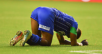 A dejected Wigan Athletic's Jamal Lowe during<br /> <br /> Photographer Dave Howarth/CameraSport<br /> <br /> The EFL Sky Bet Championship - Wigan Athletic v Fulham - Wednesday July 22nd 2020 - DW Stadium - Wigan<br /> <br /> World Copyright © 2020 CameraSport. All rights reserved. 43 Linden Ave. Countesthorpe. Leicester. England. LE8 5PG - Tel: +44 (0) 116 277 4147 - admin@camerasport.com - www.camerasport.com