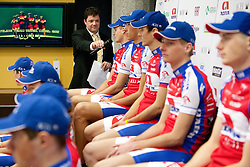 at press conference of Pro Cycling Team Adria Mobil Novo mesto before new season, on March 8, 2011 at ACH, Ljubljana, Slovenia. (Photo By Vid Ponikvar / Sportida.com)