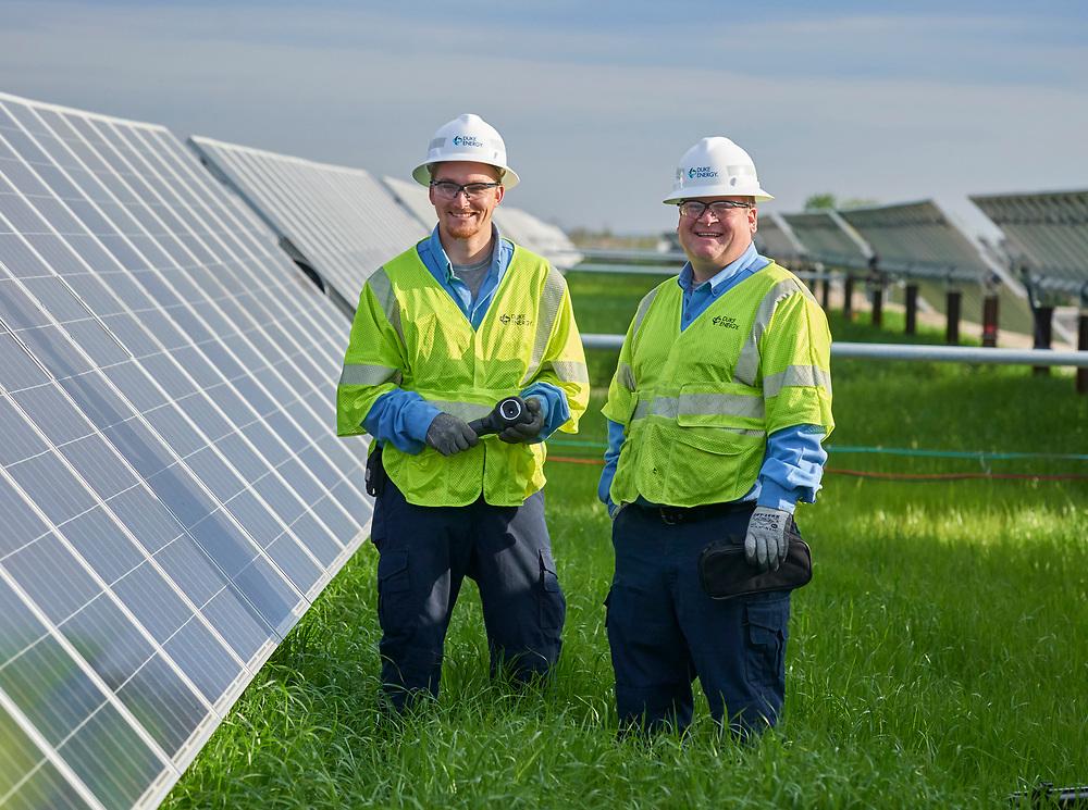 Duke Energy workers at Elizabeth City, NC Solar Farm