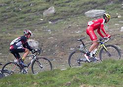 """10.07.2014, Grossglockner Hochalpenstrasse, AUT, 66. Österreich Radrundfahrt, 5. Etappe, Matrei nach St. Johann Alpendorf, im Bild v.l. Gregor Mühlberger (AUT), Johan Bagot (FRA) beim Anstieg zur Bergwertung """"Glocknerkönig"""" // during the 66 th Tour of Austria, Stage 5, from the Matrei to St. Johann Alpendorf, Grossglockner Hochalpenstrasse, Austria on 2014/07/10. EXPA Pictures © 2014, PhotoCredit: EXPA/ Johann Groder"""