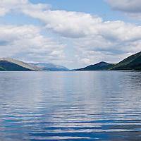 Looking north along Loch Linnhe from Corran, Scotland