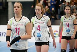 20190131 NED: Semi Final Cup Sliedrecht Sport - Eurosped, Sliedrecht <br />Eline Gommans (4) of Team Eurosped Twente, Eline Timmermans (9) of Team Eurosped Twente<br />©2019-FotoHoogendoorn.nl / Pim Waslander