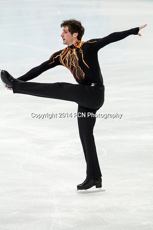 Brian Joubert (FRA) competing in the Men's Short Program Figure Skating at the  Olympic Winter Games, Sochi 2014
