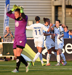 Karen Carney of Birmingham City Ladies celebrates her goal from a penalty - Mandatory by-line: Paul Knight/JMP - Mobile: 07966 386802 - 05/09/2015 -  FOOTBALL - Stoke Gifford Stadium - Bristol, England -  Bristol Academy Women v Birmingham City Ladies FC - FA Women's Super League