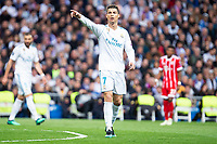 Real Madrid Cristiano Ronaldo during Semi Finals UEFA Champions League match between Real Madrid and Bayern Munich at Santiago Bernabeu Stadium in Madrid, Spain. May 01, 2018. (ALTERPHOTOS/Borja B.Hojas)