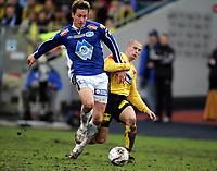 Fotball, 06. november 2005 , Cupfinale , NM-finale menn , Lillestrøm - Molde , Duellen som førte til scoring mellom Rob Friend, Molde og Christoffer Andersson , LSK