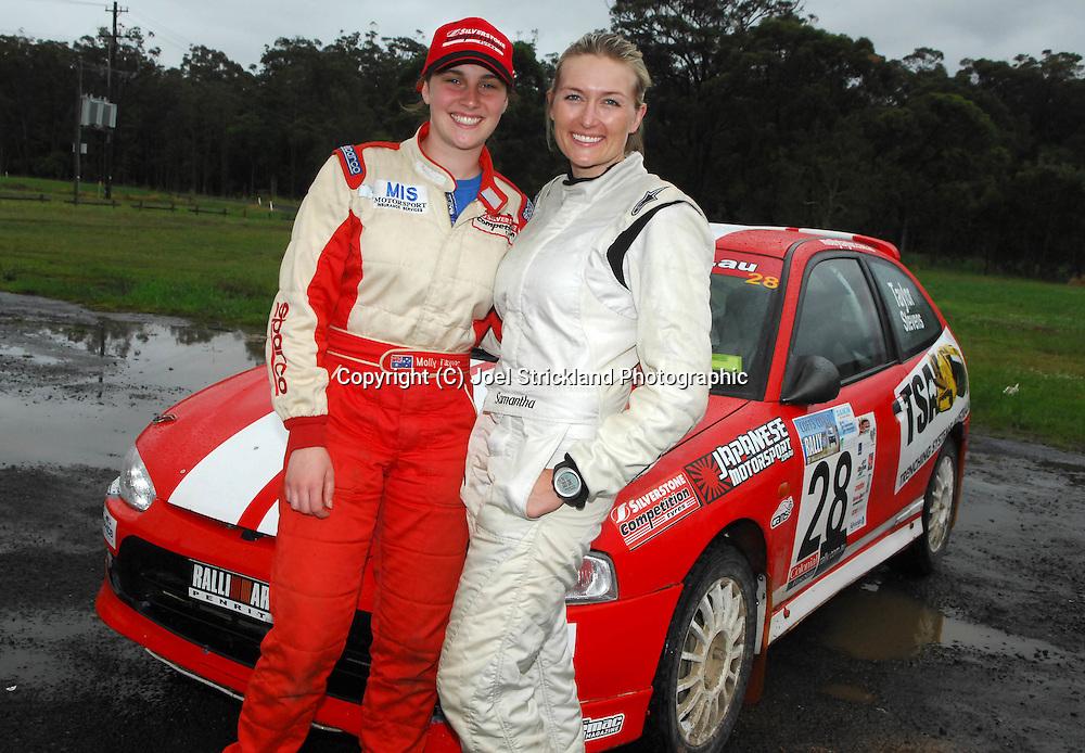 Molly Taylor & Samantha Stevens after winning F2 Championship.Motorsport-Rally/2008 Coffs Coast Rally.Heat 2.Coffs Harbour, NSW.16th of November 2008.(C) Joel Strickland Photographics