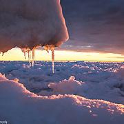 Late Winter Lake Michigan Sunset