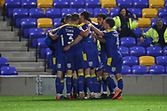 GOAL 2-0 during the EFL Sky Bet League 1 match between AFC Wimbledon and Peterborough United at Plough Lane, London, United Kingdom on 2 December 2020.