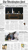 August 18, 2021 - USA: Front-page: Today's Newspapers In United States