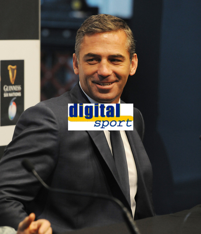 Rugby Union - 2020 Guinness Six Nations Launch Press Conference - Tobacco Dock, London<br /> <br /> Italy coach, Franco Smith with Captain, Luca Bigi <br /> <br /> COLORSPORT/ANDREW COWIE