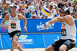 Alexander Horst and Florian Gosch of Austria at A1 Beach Volleyball Grand Slam tournament of Swatch FIVB World Tour 2010, on July 31, 2010 in Klagenfurt, Austria. (Photo by Matic Klansek Velej / Sportida)