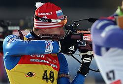 COUPE DU MONDE DE BIATHLON 2010 ANTERSELVA..© Pierre Teyssot / Sportida.com.. USTYUGOV Evgeny during the 12.5km men pursuit of the stage of the e.on Ruhrgas IBU Biathlon World Cup on 24/01/2010 , 2010 in Anterselva - Antholz,  Italy.