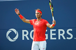 August 12, 2018 - Toronto, ON, U.S. - TORONTO, ON - AUGUST 12: Rafael Nadal (ESP) reacts during the Rogers Cup tennis tournament Final on August 12, 2018, at Aviva Centre in Toronto, ON, Canada. (Photograph by Julian Avram/Icon Sportswire) (Credit Image: © Julian Avram/Icon SMI via ZUMA Press)