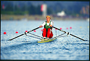 Sydney. AUSTRALIA, Women's, Olympic, Single Sculls Gold Medalist: Ekaterina [KHODOTOVICH] KARSTEN. First few strokes, from the start, competing in the  2000 Olympic Games - Olympic Regatta; Penrith, NSW. [Mandatory Credit: Peter Spurrier: Intersport Images] Sydney International Regatta Centre (SIRC) 2000 Olympic Rowing Regatta00085138.tif