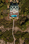 Aerial view of a beach front home in Kiawah Island, SC.