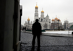 A Russian soldier is silhouetted in front of a building inside The Kremlin complex ahead of the FIFA 2018 World Cup draw. PRESS ASSOCIATION Photo Picture date: Friday December 1, 2017. See PA story SOCCER World Cup. Photo credit should read: Nick Potts/PA Wire. RESTICTIONS: Editorial use only. No transmission of sound or moving images. No use with any unofficial third party logos. No altering or adjusting of photographs.