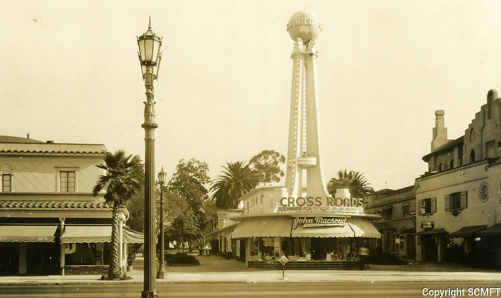 1937 Crossroads of the World on Sunset Blvd.