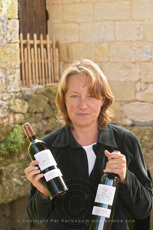 Catherine Papon Nouvel, owner of Ch Gaillard, Petit Gravet Aine and Clos Saint Julien, Saint Emilion, Bordeaux, France