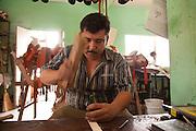 Sandal maker, La Noria Village, Near Mazatlan, Sinaloa, Mexico
