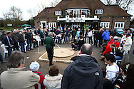 Tinsley Green, Crawley - Friday April 2nd, 2010: Spectators watch as the 1st semi-final of the World Marble Championships gets under way at the The Greyhound, Tinsley Green, Crawley. (Pic by Andrew Tobin/Focus Images)