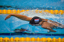 Marleen Veldhuis of Netherlands in action during the Olympic semi final 100m on August 14, 2008 in Beijing