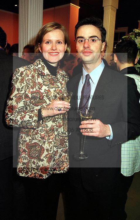 PRINCE & PRINCESS ADALBERT DE BROGLIE at a party in London on 7th December 1999.MZT 42