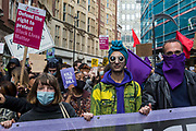 Thousands of people attend a Kill The Bill demonstration as part of a National Day of Action to mark International Workers Day on 1st May 2021 in London, United Kingdom. Nationwide protests have been organised against the Police, Crime, Sentencing and Courts Bill 2021, which would grant the police a range of new discretionary powers to shut down protests.