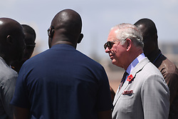 RETRANSMITTING CORRECTING LOCATION The Prince of Wales during a visit to the Marine Drive Project in Accra, Ghana, on day four of his trip to west Africa with the Duchess of Cornwall..