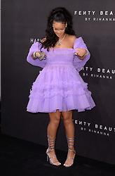 Rihanna arriving at the Fenty Beauty By Rihanna Party, Harvey Nichols, Knightsbridge, London
