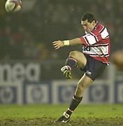 Leicester, England, UK., Welford Road Stadium,  03.01.2004, [Mandatory Credit:Peter Spurrier/Intersport Images],<br />  <br /> <br /> 03/01/2004 - Photo  Peter Spurrier<br /> 2003/04 Zurich Rugby Premiership Leicester v Gloucester<br /> Duncan McRae